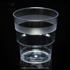 Old Fashioned Crystal Clear Hard Plastic 6 oz Party disposable wine cups