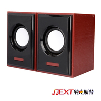 Portable digital rechargeable mini amplifier wooden computer speaker for tablet pc