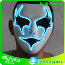 Luminous EL Wire Led Mask Halloween Light Up Cosplay Mask flashing mask