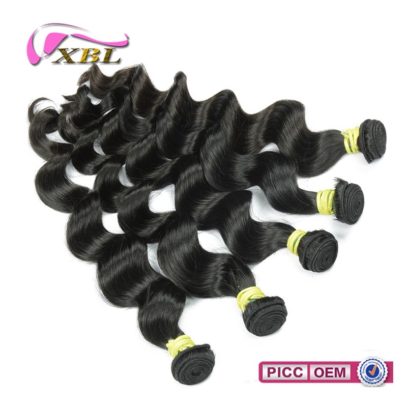 One donor human hair full cuticle intact machine weft human hair