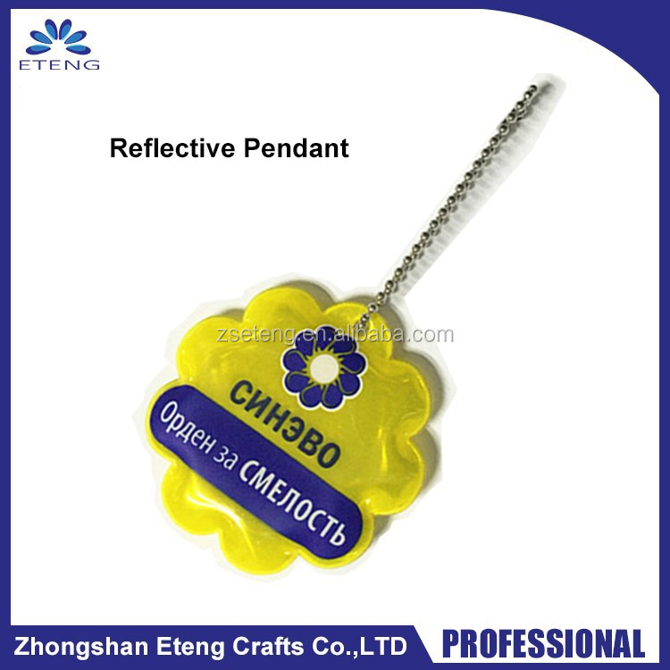 Promotional small gifts custom PVC reflective pendant