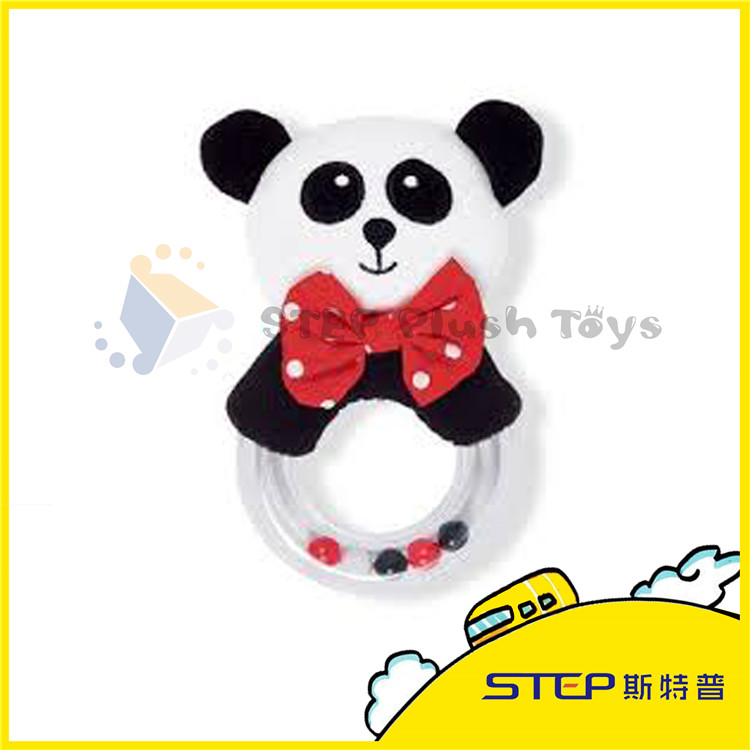 Customized Plush Toy Panda with Ring nice Gift for kids/baby