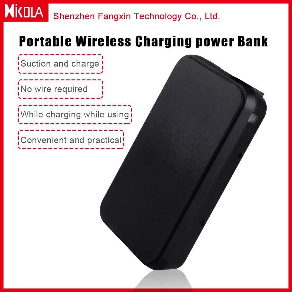Emergency 4000mAh portable Qi Wireless Charger Transmitter Power Bank