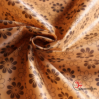 Pigment dyed printed floral pattern polyester oxford, bag and luggage fabric with PA coating