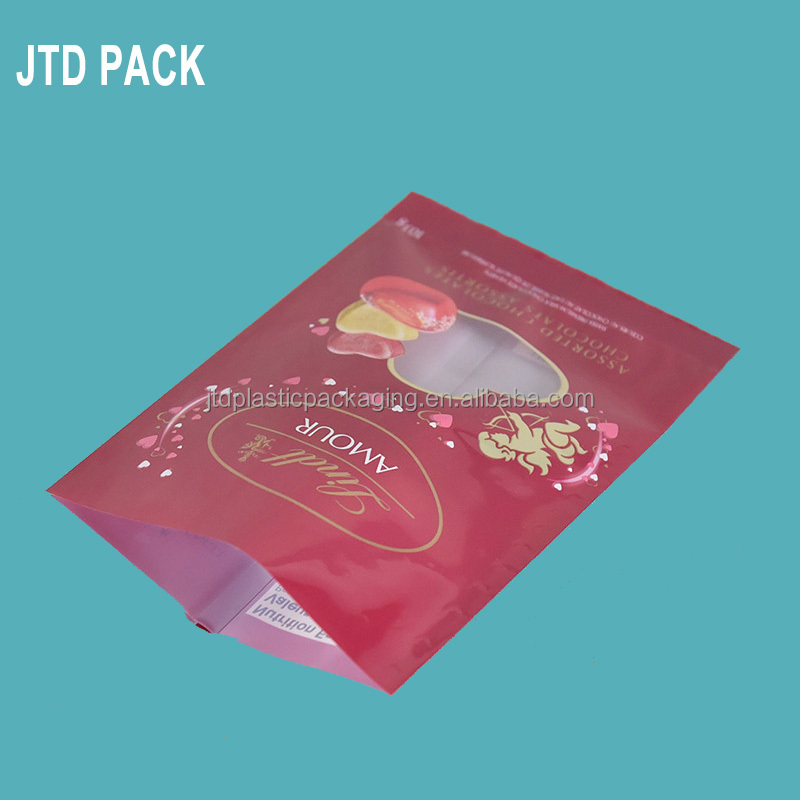 Qingdao JTD Plastic Manufacturer Customized Printing Middle Sealed Chocolate/Sugar Bar Packaging Bags