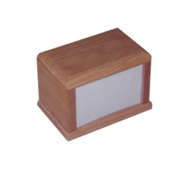 China funeral supplier wood pet photo frame urn for ashes