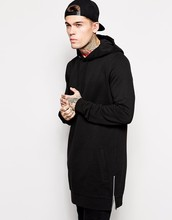 black <strong>Men</strong> Hip Hop Classic Pullover Long Hoodie Sweatshirts with Zipper Online buy