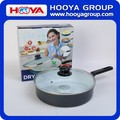 DIA.26cm Non stick Carbon Steel Ceramic Coating Frying Pan Steamer