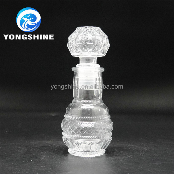 small glass diffuser bottle vase wine bottle to be used