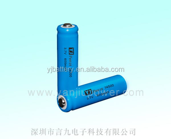 testers battery 14500 3.7v li ion battery li-ion 14500 600mah 3.7v lithium ion battery with connector for golden motor
