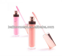 Golden cap Lip Gloss with mirror and light