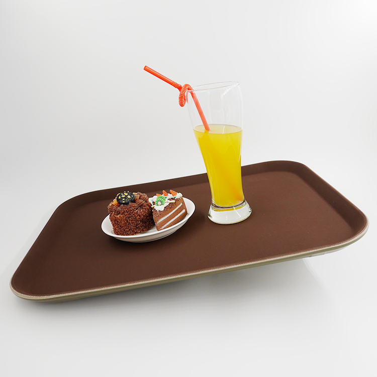 New design rectangle non slip plastic serving hospital food tray with customized