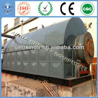 2800x6600mm Automatically Scrap rubber/tyre pyrolysis plant with high oil rate