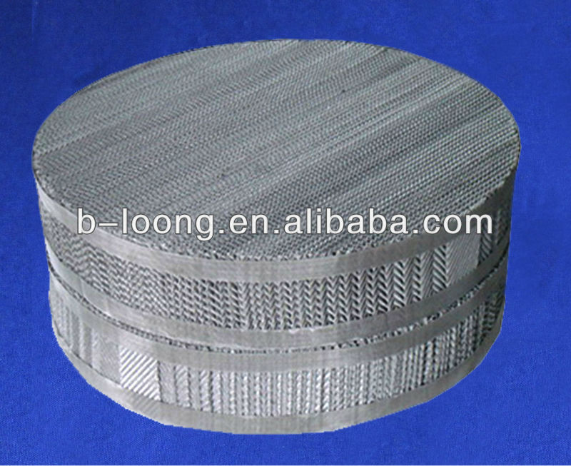 metal wire gauze packing for fine chemical,flavours factory,isomer separation.