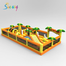 Customized Tree Inflatable Bouncer With Slide Bouncy Jumping Station