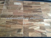shining lamination Wooden vein marble 3mm+granite 9mm composite tiles