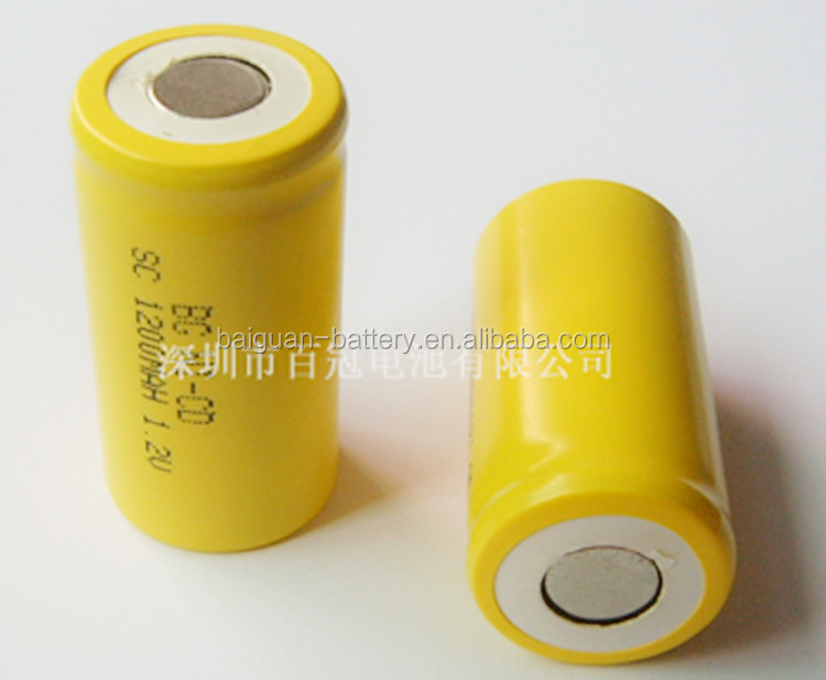 Small sc1200 1.2V ni cd sc 1200mah rechargeable battery
