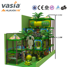 2017 Huaxia Vasia plastic indoor soft playground equipment for children small jungle climbing animals