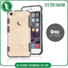 Hot 2017 cellphone case for iphone 7 case clear antiskid handy case 2 in 1 hard pc back plus soft tpu bumper