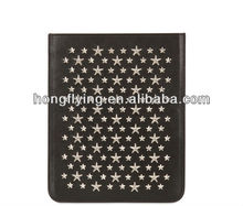 Special style star studs leather bag for ipad Air