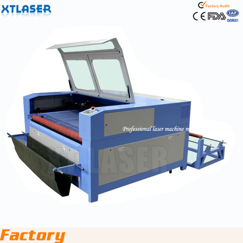 t shirt printing machine 1610 I CO2 laser cutting machine for t shirt clothing laser cutting machine with double heads