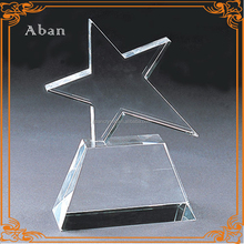 Engraving star crystal award,new design crystal trophies