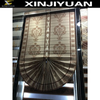 Circular sector Pleated Blinds curtain roller shutters zebra blind jacquard fabric wholesale roller shutters roller shutters