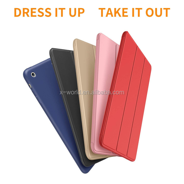 Ultra Slim Lightweight Smart Case Trifold Cover Stand with Flexible Soft TPU Back Cover for iPad Mini