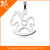 Fashion and beautiful horse shape gift wholesale cheap custom 316L stainless steel Body Jewelry Pendant Necklace