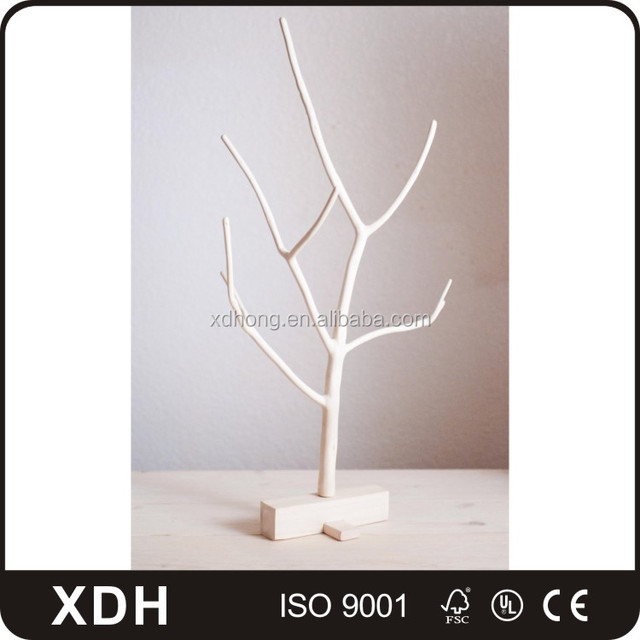 high-end wooden jewelry props tree shaped jewelry display rack stand