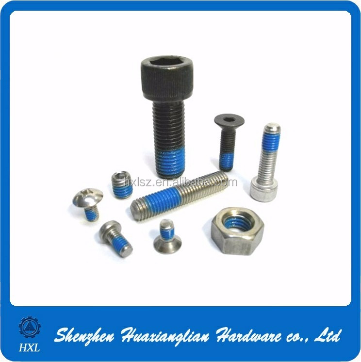 m2 m3 m4 m5 m6 different head type nylok screw patch and nut nylock screw
