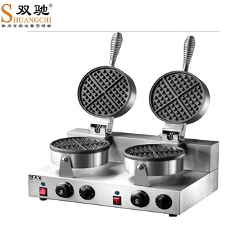 SC-X32B 2-plate stainless steel Waffle Baker Machine waffle cone baker