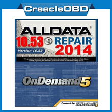 2014 ALLDATA 10.53+2015 Newest Auto Repair Software Mitchell On Demand5 Alldata and mitchell on demand software in 1TB HDD