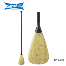 Bamboo veneer stand up paddle with adjustable shaft system for sup paddle board