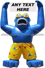 Inflatable Gorilla with Shorts, Sunglasses, inflatable advertisement K2058