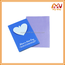 the new year pop up card, heart shape handmade greeting card (more size)