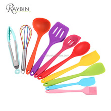 10 Pieces Colorful Kitchen Utensil Set High Quality Kitchen Tool Skimmer Silicone Spoon Filter 2018 Innovative Product Home
