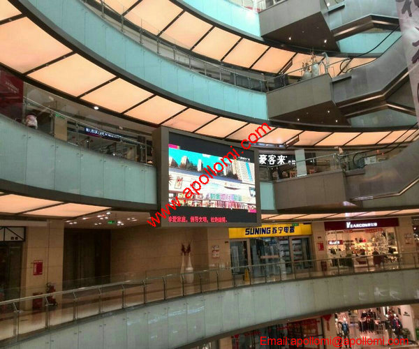 SUNING 24SQM P10 mounted led video wall