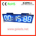 Large 6 digit remote outdoor GX electronic clock