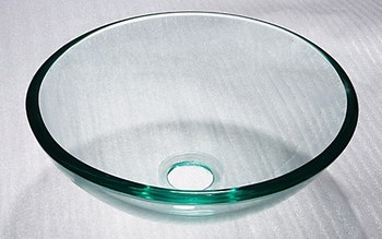 DOMO high quality round clear tempered glass basins