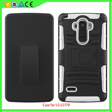 For LG LS770 PC Silicone 3 in 1 slip phone case,Belt Clip mobile case cover for LG LS770