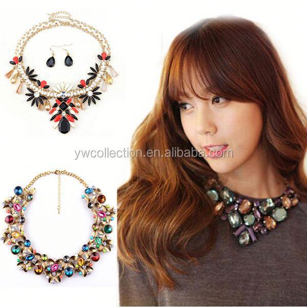 fully stocked wholesale kids chunky necklace,2015 glass bead chunky necklace,necklace for mother's day