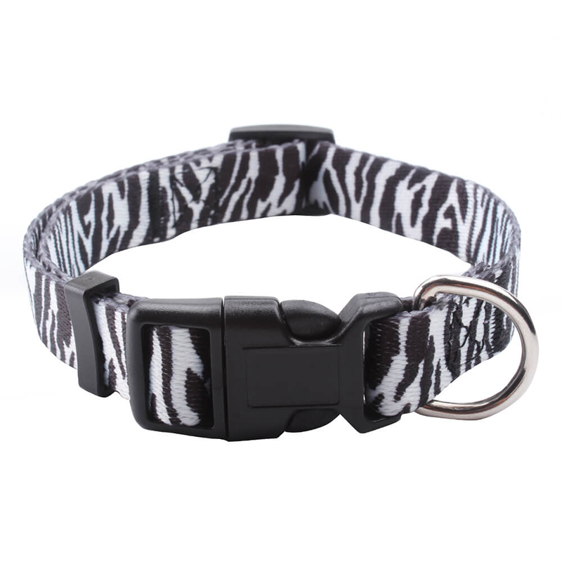 Factory direct sale high quality beautiful stylish dog collar polyester dog adjustable collar