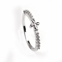 Lastest Factory Wholesale Price Beauitful Female Classical Unique Cross Ring