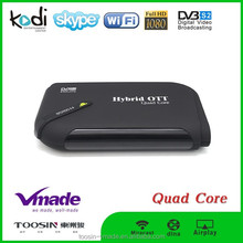 Android tv v8plus +ott dvb s2 set top box amlogic s805 hybrid tv box