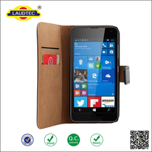 2015 Released Leather Flip Wallet Slim Case Cover For Microsoft lumia 650 ---------Laudtec