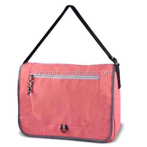 Promotional polycanvas school cross body shoulder messenger bag