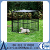 Anping Factory Powder coating heavy duty big dog kennel /iron fence dog kennel
