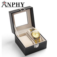 ANPHY C46 Noble High Quality 2 Watches Pillow Box Small Fabric Leather Gift Display Watch Case