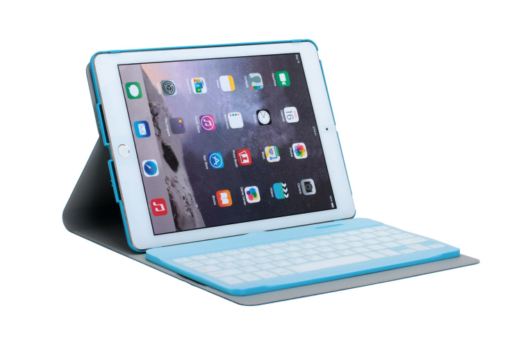 360 rotating bluetooth keyboard leather case with waterproof keyboard protective film for Apple iPad Mini1 2 3